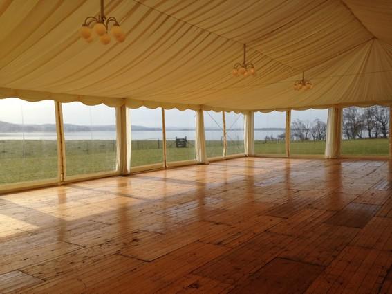 Wooden marquee floor