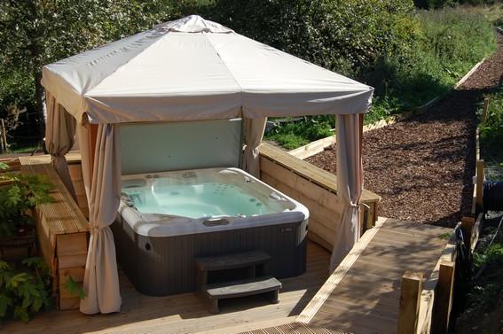 Secret Yurts Hot Tub