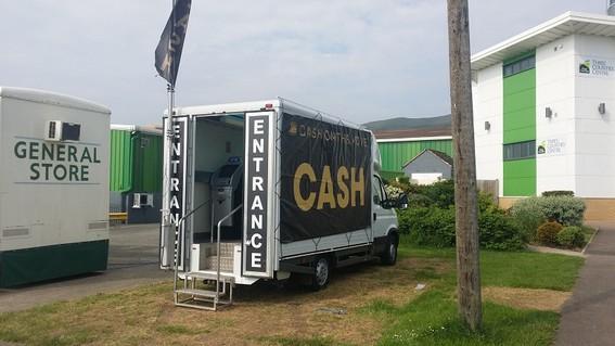 Portable event cash machine.
