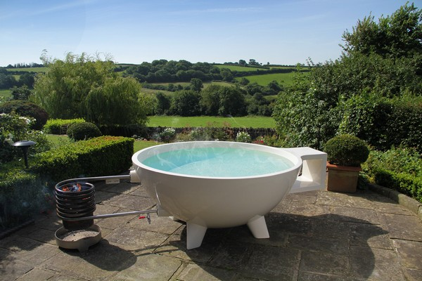 Hot tub outside
