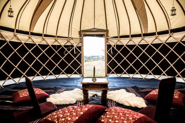 Inside Glamping Tent