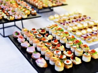 Appetizers on plates