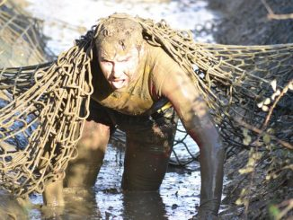 Muddy obstacle course