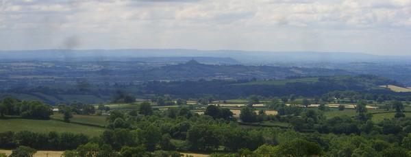 Panorama countryside view