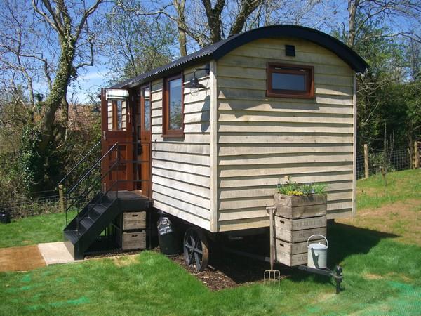 Shepherd hut entrance