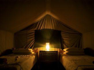 Lighting in tent