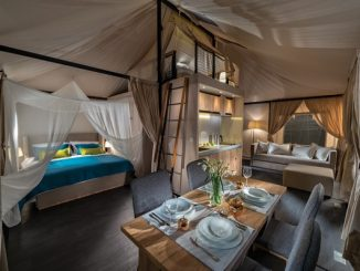 Luxury glamping bedroom