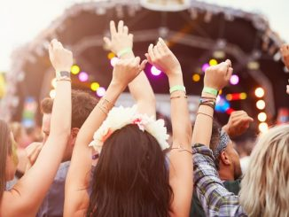People partying at festival