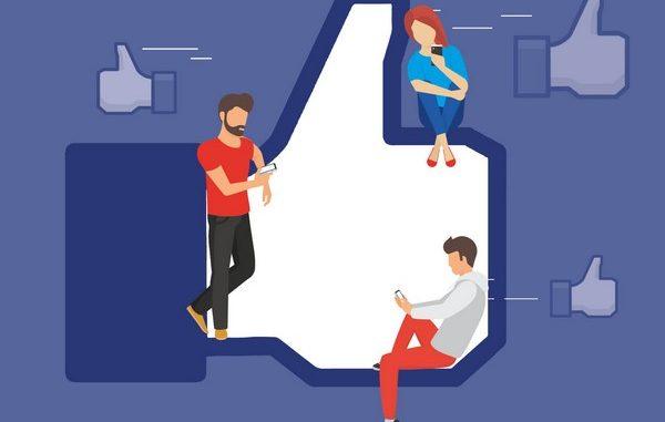 Facebook likes illustration