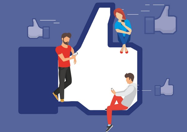 Facebook likes illustration
