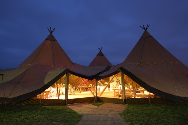 Tipis evening lights