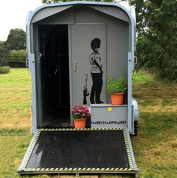 Vintage horse trailer WCs and shower
