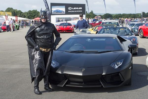 Batman costume and car