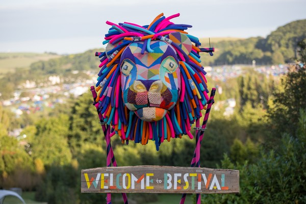 Bestival lion decoration