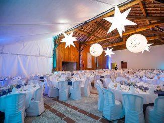 Glamorous wedding lighting