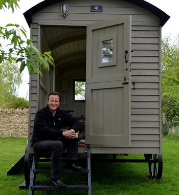 David Cameron Shepherd Hut
