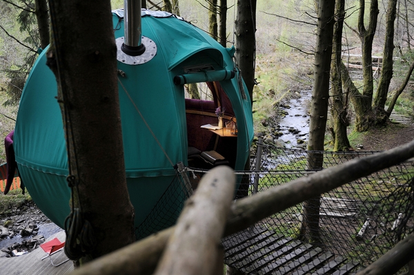 Woodland glamping tent