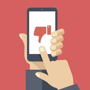 Dislike smartphone clipart