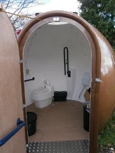 Ecotoilets Egloo pods inside