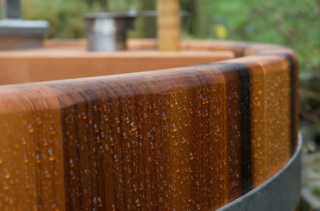 Close up of Forestflame Wood-fired Hot Tub