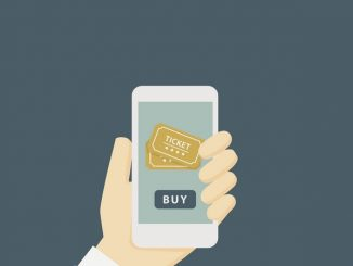 Clip art of smartphone buying