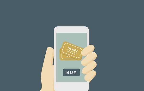 Clip art of smartphone buying