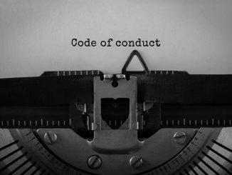 Code of conduct typewriter