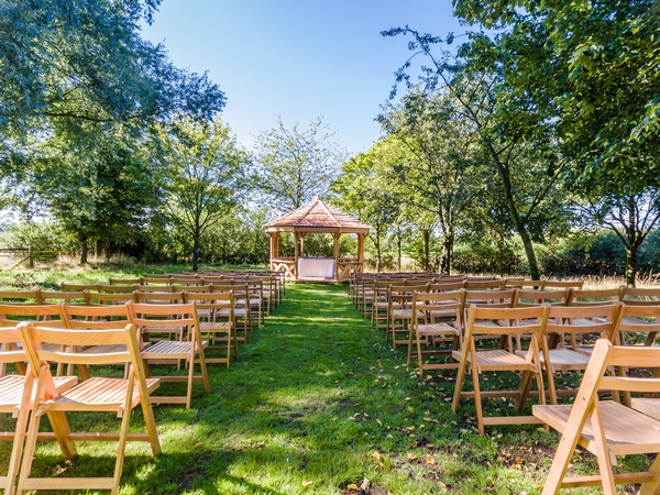Crockwell Farm Outdoor Wedding set up