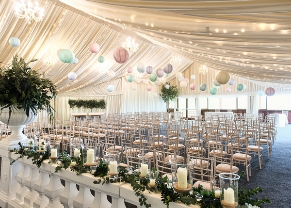 Crockwell Farm wedding marquee decoration