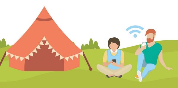 Camping clip art wifi