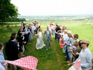 Huntstile outdoor wedding