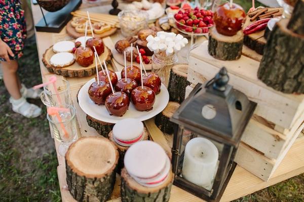 Extravagant wedding food selection
