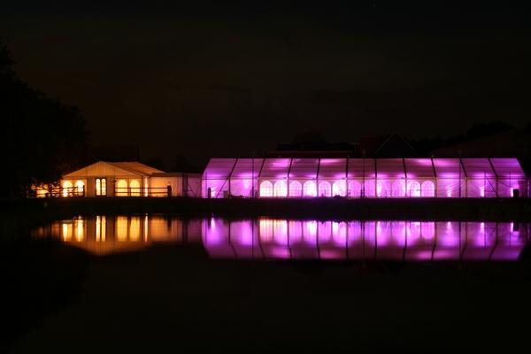 Version Events event lighting orange and pink