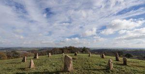 Cornwall Pentillie Castle stone circle