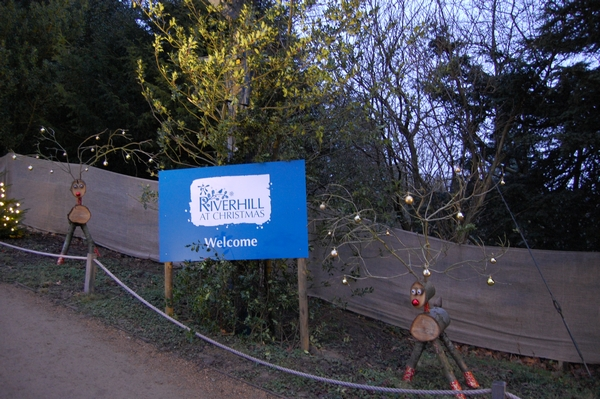 Riverhill Christmas event sign