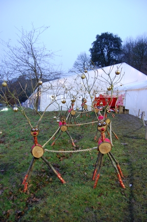 Riverhill Christmas event outdoor reindeer decorations