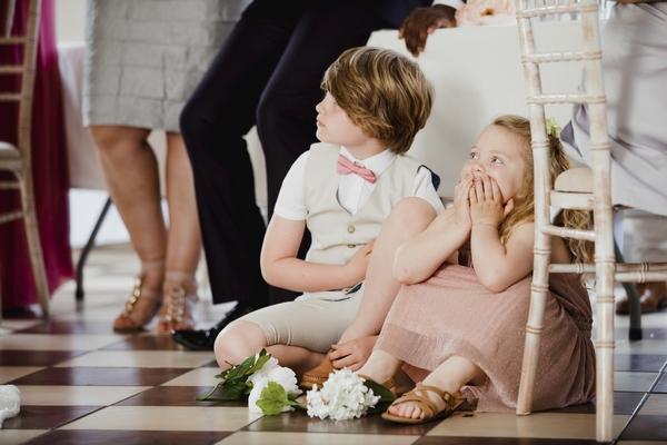 Children at wedding event