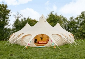 Portobello Tents pop-up canvas accommodation