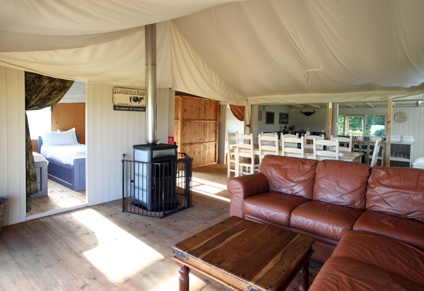 Wild Luxury Glamping interior