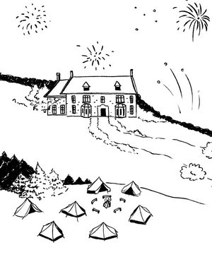 Periwinkle Manor House illustration
