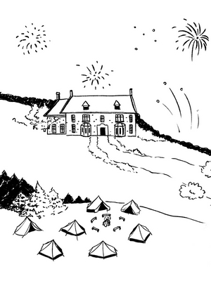 Periwinkle Manor House illustration
