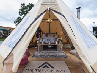 A tipi at the Glamping Show