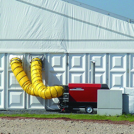 Thermobile indirect fired oil and gas heaters