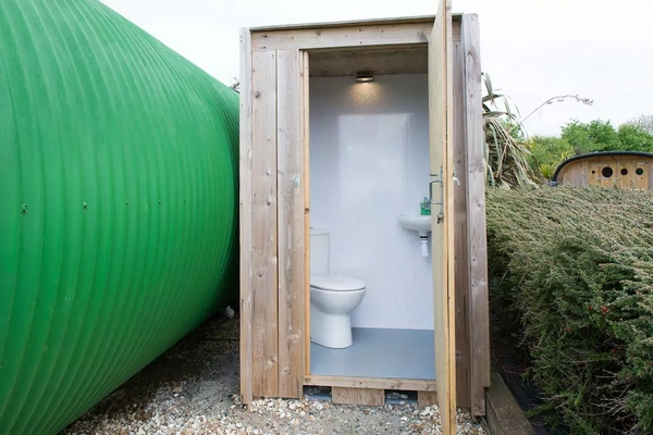 Atlantic Highway glampsite glamping toilet