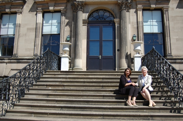 Pav Shergill, director of Monsoon Venue Group, with Dorothy Ingle, a Stoneleigh Abbey Trustee