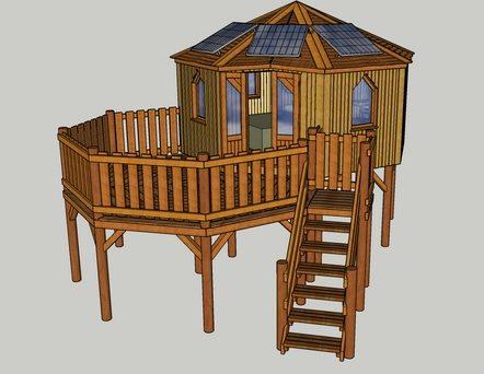 Wild Hart new tree house cabin