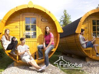 Campplus Finkota glamping barrels
