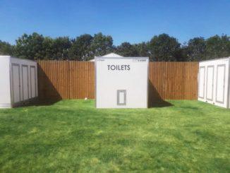 Site event luxury vacuum toilet pods
