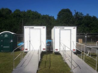 SaniAccess shower in Site Event units