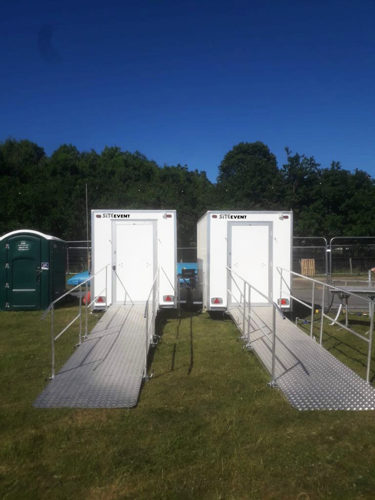 Saniaccess and Sanishower from Saniflo in Site Event units